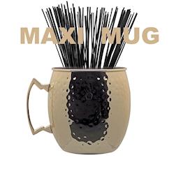 Maxi boccale in acciaio inox dorato martellato lt 5