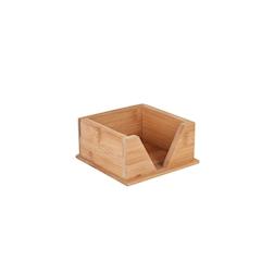Portatovaglioli in bamboo naturale cm 13,5x13,5x6,5
