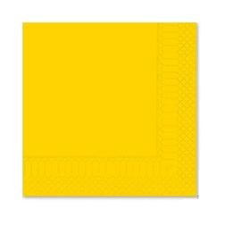 Tovagliolo 2 veli in cellulosa giallo cm 25x25
