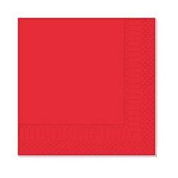 Tovagliolo 2 veli in cellulosa rosso cm 25x25