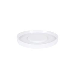 Piatto piano tondo presentazione Shangri-la in porcellana bianca cm 20