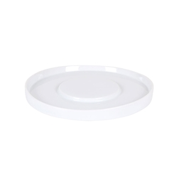 Piatto piano tondo presentazione Shangri-la in porcellana bianca cm 25