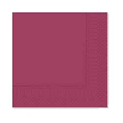 Tovagliolo 2 veli in cellulosa bordeaux cm 25x25