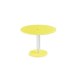 Alzata tonda Mealplak in Nacryl® giallo cm 21