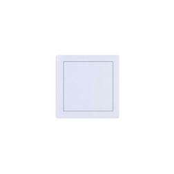 Sottobicchiere The Luxe in poliestere e cellulosa bianco ghiaccio cm 10x10