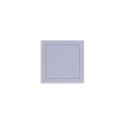 Sottobicchiere The Luxe in poliestere e cellulosa grigio chiaro cm 10x10