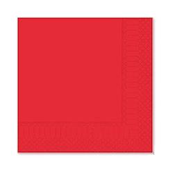 Tovagliolo in cellulosa 2 veli rosso cm 33x33
