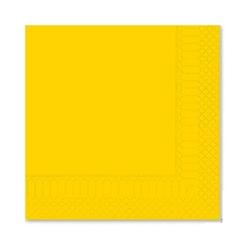 Tovagliolo in cellulosa 2 veli giallo cm 33x33