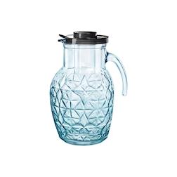Brocca Oriente Bormioli Rocco in vetro azzurro con rinfrescatore lt 2,4