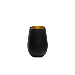 Bicchiere acqua Olympic Stolzle in vetro bicolore nero e oro cl 46,5