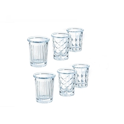 Bicchiere shot New York Arcoroc in vetro decori assortiti cl 3,4