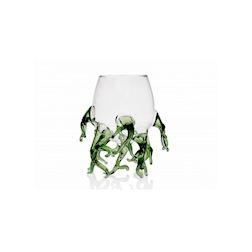 Bicchiere Alga 100% Chef in vetro borosilicato trasparente e verde cl 25