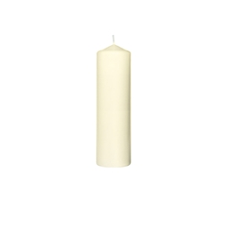 Candela Pillar Duni in cera crema cm 22x7