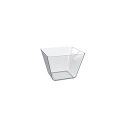 Coppetta Space 4 in polistirene trasparente cm 7,5x7,5x7