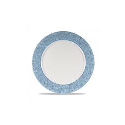 Sottopiatto Isla Blu Ocean Churchill in ceramica vetrificata bianca falda azzurra cm 30,5