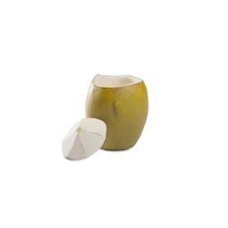 Bicchiere Coco Loco 100% Chef con coperchio e foro in resina verde cl 25