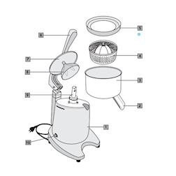 Anello paraspruzzi Ceado per spremiagrumi SL98 in acciaio inox cm 14,8