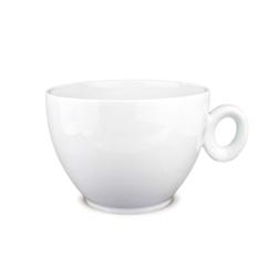 Maxi tazza portabustine con piatto Loulè in porcellana bianca lt 1