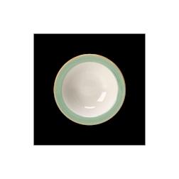 Bowl Performance Rio Steelite in cermica vetrificata bianca con fascia verde cm 16,5