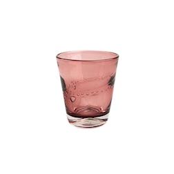 Bicchiere Samoa acqua in vetro rosa cl 31