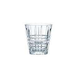 Bicchiere Square tumbler in vetro trasparente cl 26