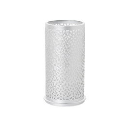 Porta candela Bliss Duni in metallo argento cm 14x7,5