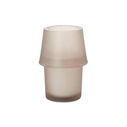Porta candela Urban con candela Duni in vetro fumè cm 13,5x8,7