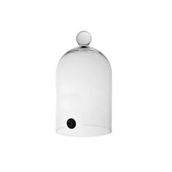 Cupola per affumicatore con valvola in vetro cm 16x28