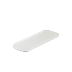 Vassoio rettangolare Mealplak in Nacryl® bianco cm 24,5x9x1