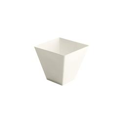 Coppetta monouso Prisma in PLA bianco cl 9,5