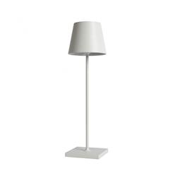 Lampada ricaricabile da tavolo Poldina Zafferano in alluminio bianco cm 38