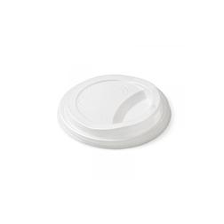 Coperchio monouso Duni con foro per tazze cappuccino in cpla bianco cm 9,3