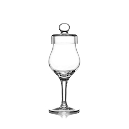 Calice Amber Glass whisky con coperchio in vetro cl 10