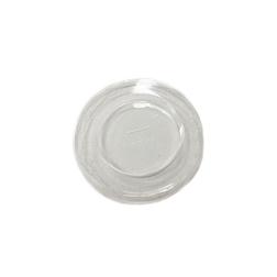 Coperchio monouso con foro in pla trasparente cm 10,5