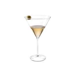 Coppa martini con punzone per olive in vetro soffiato cl 34