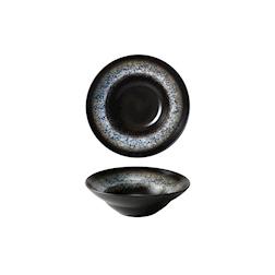 Pasta Bowl in porcellana nera decoro blu cm 24