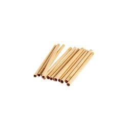Cannucce riutilizzabili in legno bamboo colore naturale cm 14x1-1,2