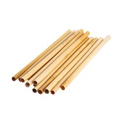 Cannucce riutilizzabili in bamboo colore naturale cm 25x0,9-1