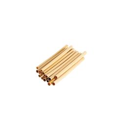 Cannucce riutilizzabili in bamboo colore naturale cm 14x0,5-0,7
