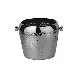 Secchiello ghiaccio in acciaio martellato nero lt 2