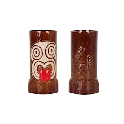 Tiki mug Ku in porcellana marrone cl 48