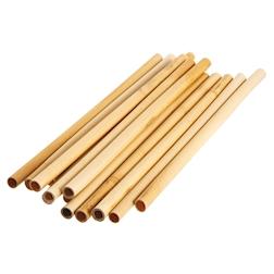 Cannucce riutilizzabili in legno bamboo naturale cm 25x0,6-0,8