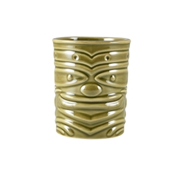 Tiki mug Smile in porcellana verde cl 36