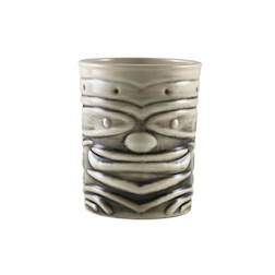 Tiki mug Smile in porcellana bianca e nera cl 36