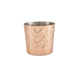 Bicchiere mug appetizer in acciaio ramato diamantato cm 8,5x8,5