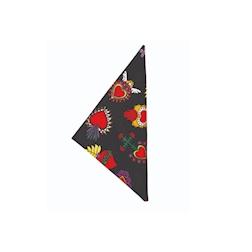 Fazzoletto cuoco triangolo Hearts 100% cotone