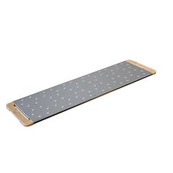 Tagliere Giusto per pinsa e pizza in acciaio inox e legno cm 76,5x19,5