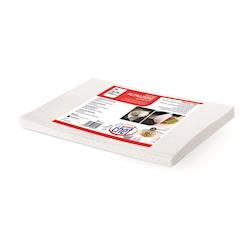 Panno passabrodo in poliammide bianco cm 75x75