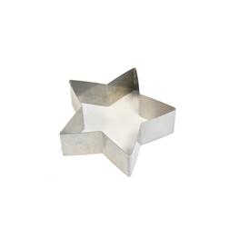 Stampo a stella in acciaio inox cm 13,5x4