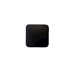 Sottobicchiere quadrato in pelle rigenerata nera cm 10